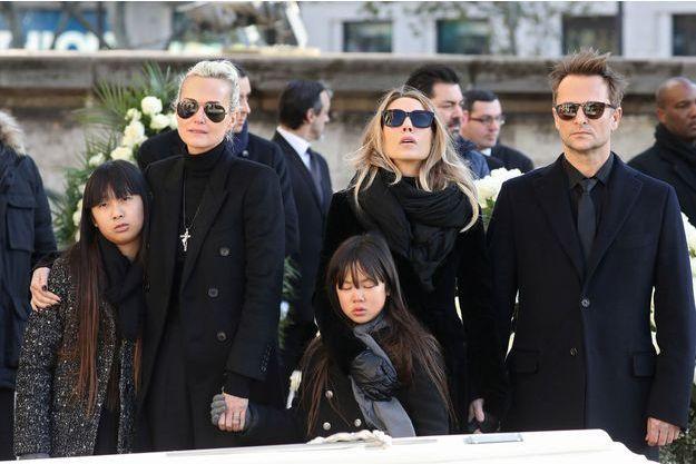 Laeticia Hallyday, ses filles Jade et Joy, Laura Smet et David Hallyday