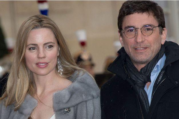 Melissa George et son compagnon en avril 2016.