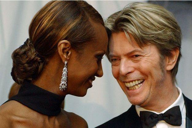 Iman et David Bowie, au temps du bonheur.