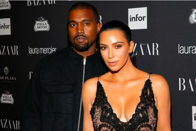 Kanye West et Kim Kardashian en septembre 2016