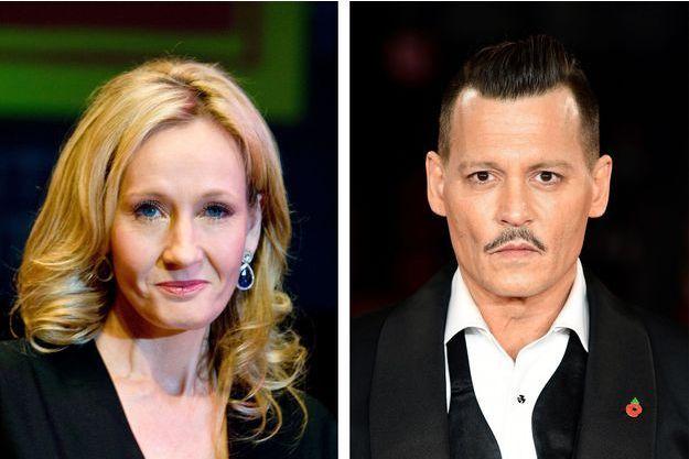J.K. Rowling et Johnny Depp.