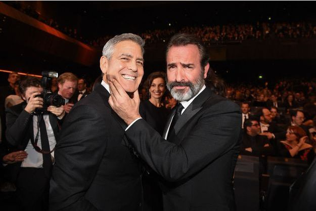 George Clooney et Jean Dujardin à la cérémonie des César en 2017