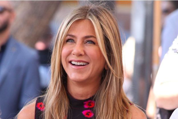 Jennifer Aniston sur le Walk of Fame à Hollywood, le 26 juillet 2017