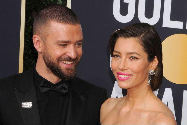 Justin Timberlake et Jessica Biel aux Golden Globes Awards à Los Angeles, le 7 janvier 2018