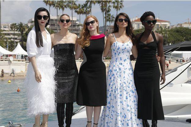 Fan Bingbing, Marion Cotillard, Jessica Chastain, Penelope Cruz et Lupita Nyong'o à Cannes en mai 2018