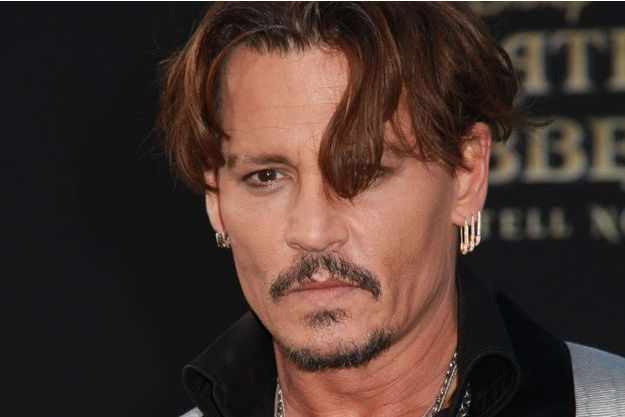 """Johnny Depp à l'avant-première de """"Pirates des Caraïbes"""" à Los Angeles, le 18 mai 2017."""