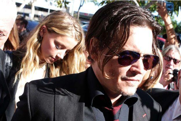 Johnny Depp et Amber Heard en avril 2016.