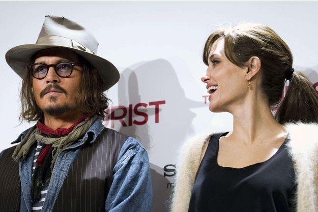 Johnny Depp et Angelina Jolie en 2010.