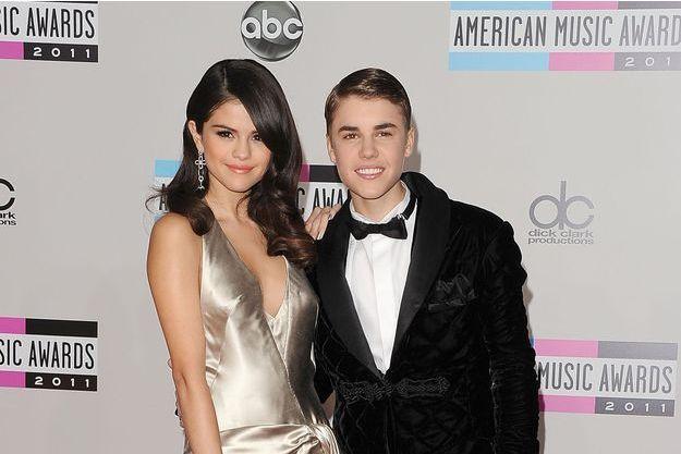 Selena Gomez et Justin Bieber, le 20 novembre 2011 à Los Angeles.