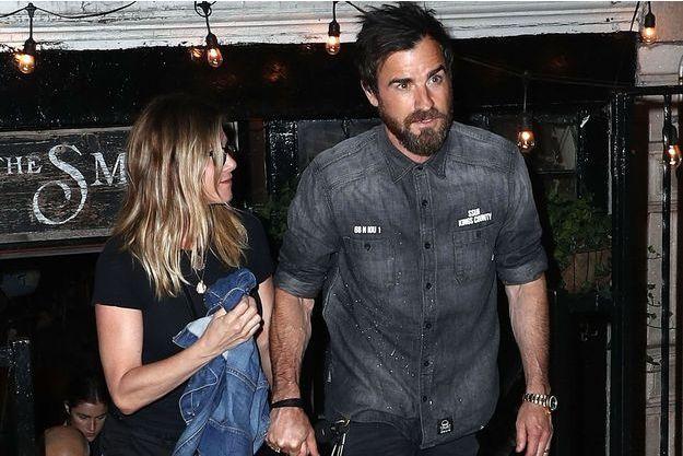 Jennifer Aniston et Justin Theroux à NYC en juin 2016.