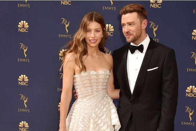 Jessica Biel et Justin Timberlake aux Emmy Awards en septembre 2018
