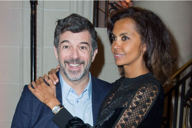 Karine Le Marchand et Stéphane Plaza à Paris, le 11 mars 2019