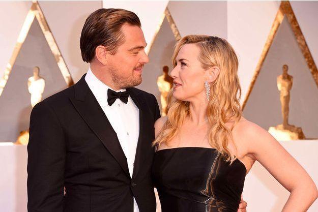 Leonardo DiCaprio et Kate Winslet à la cérémonie des Oscars 2017