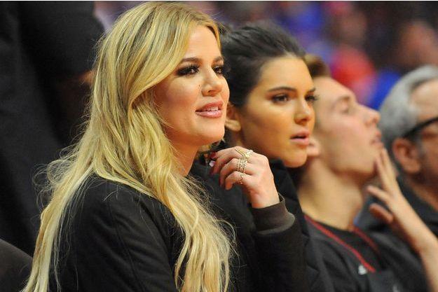 Khloe Kardashian à un match de basket à Los Angeles en mai 2015.
