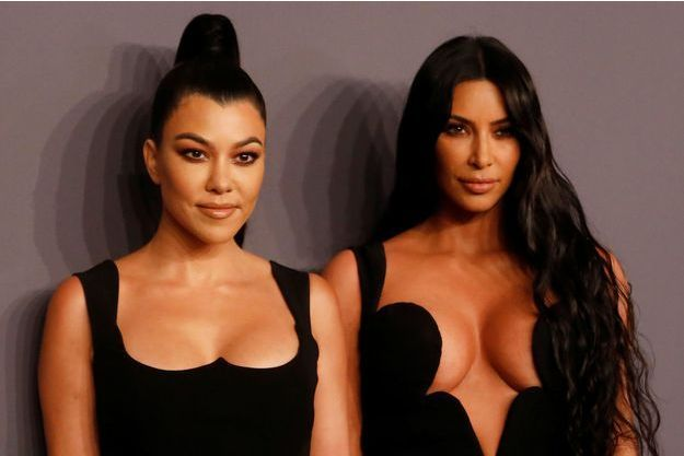 Kourtney et Kim Kardashian à New York, le 6 février 2019