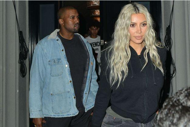 Kim Kardashian et Kanye West, le 13 janvier 2018.