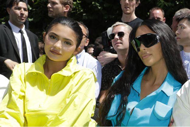 Kylie Jenner et Kim Kardashian à Paris le 21 juin 2018