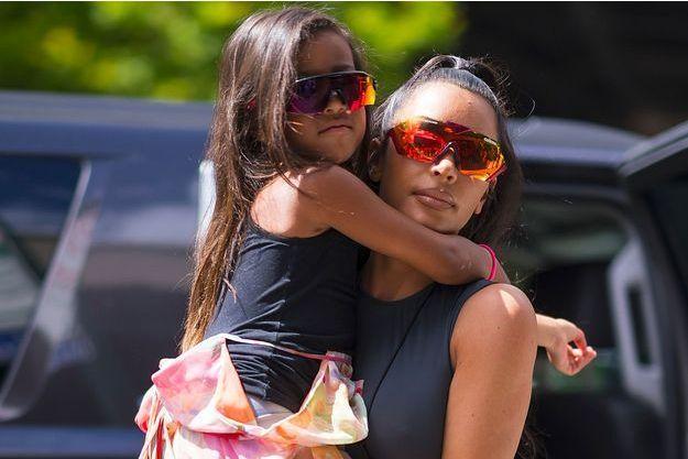 Kim Kardashian et sa fille North en juin 2018