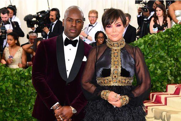 Corey Gamble et Kris Jenner au MET Gala, New York, le 7 mai 2018