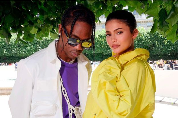 Travis Scott et Kylie Jenner, à Paris le 21 juin 2018