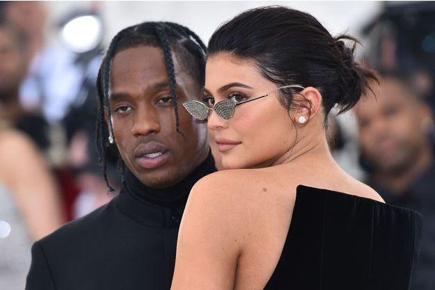 Travis Scott et Kylie Jenner au MET Gala à New York, le 7 mai 2018