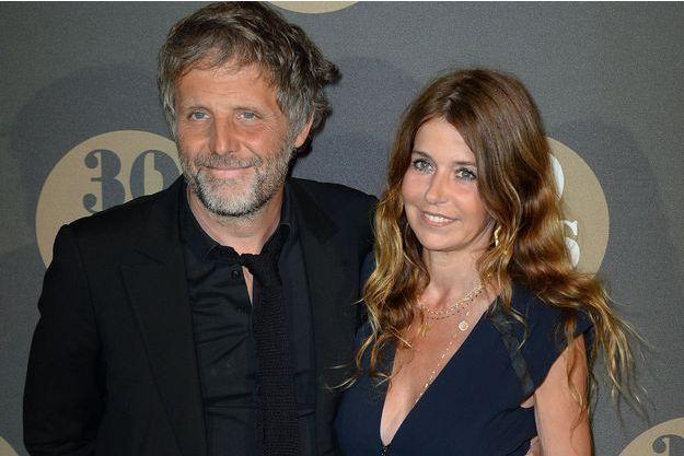 Stéphane Guillon et son épouse Muriel Cousin en 2014.