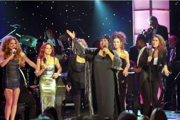 Aretha Franklin, Mariah Carey, Gloria Estefan, Carole King, Shania Twain et Céline Dion le 14 avril 1998
