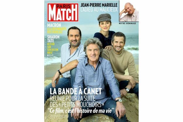Gilles Lellouche, François Cluzet, Marion Cotillard et Guillaume Canet. Au cap Ferret, le 18 avril.