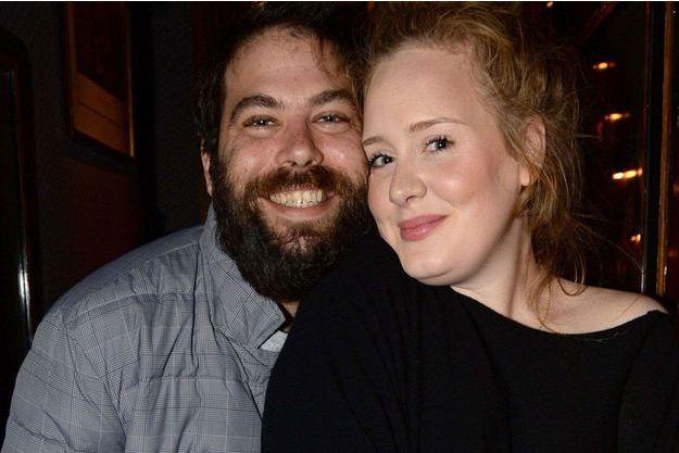 Adele et son mari Simon Konecki en 2013.