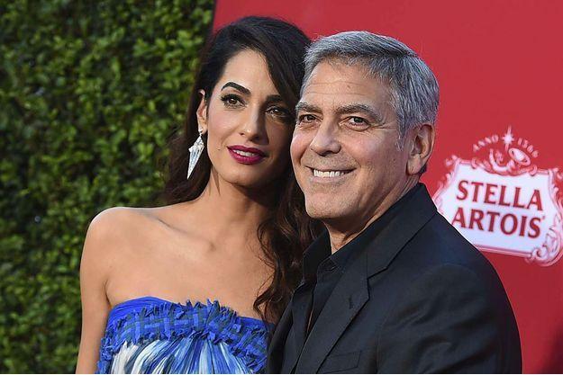 """Amal et George Clooney à la premiere de """"Suburbicon"""" à Los Angeles en octobre 2017"""