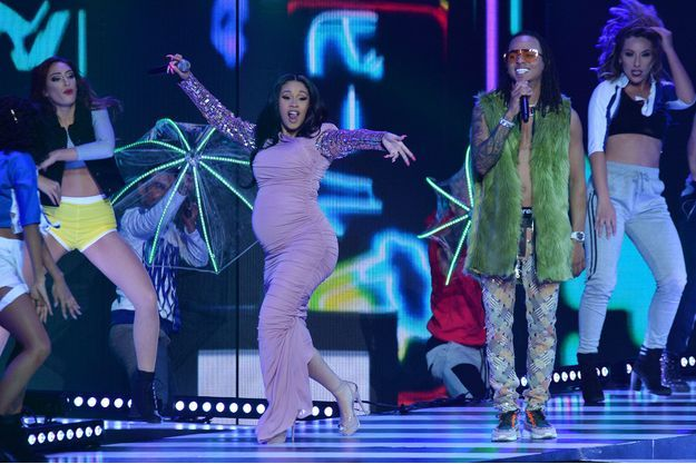 La rappeuse Cardi B sur scène à Las Vegas, en avril dernier.