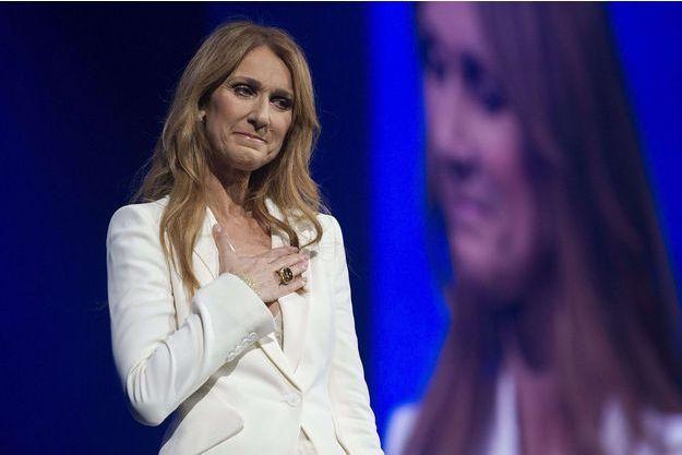 Céline Dion lors d'un concert à Montréal, en juillet dernier.