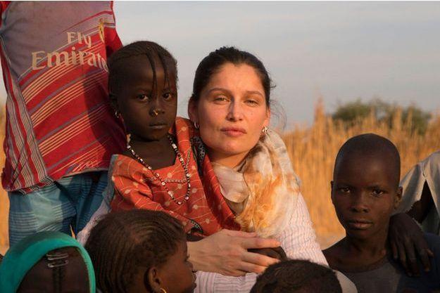 Laetitia Casta au Tchad pour l'Unicef