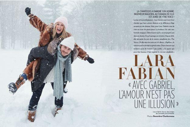 Lara et Gabriel, chez eux, dans la région des Laurentides, près de Montréal.