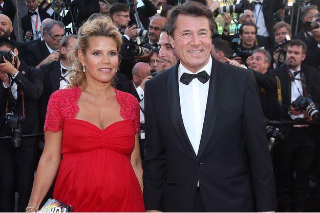 Christian Estrosi et sa femme Laura Tenoudji à Cannes, en mai 2017.