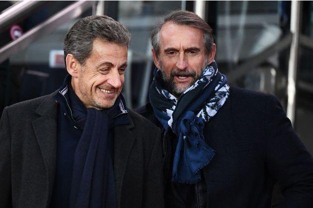 Nicolas Sarkozy et Jean-Claude Blanc dimanche au Parc des Princes.