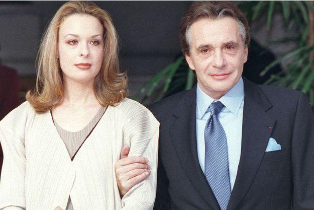 Michel Sardou et sa fille Cynthia Sardou en 1999.