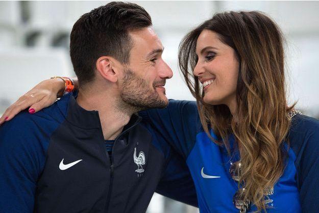 Hugo Lloris et sa femme Marine en 2016