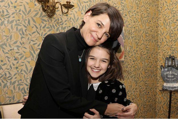 Katie Holmes et sa fille Suri Cruise le 7 janvier 2018