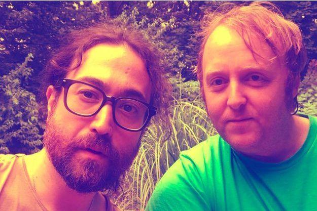 Sean Ono Lennon et James McCartney en août 2018