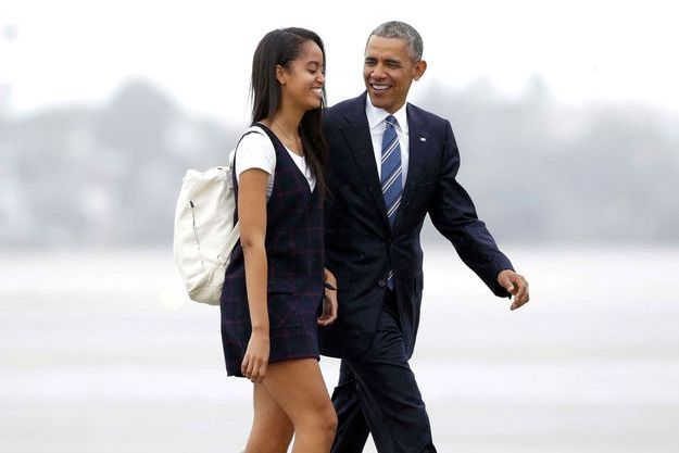 Barack Obama et sa fille Malia à Los Angeles en avril 2016