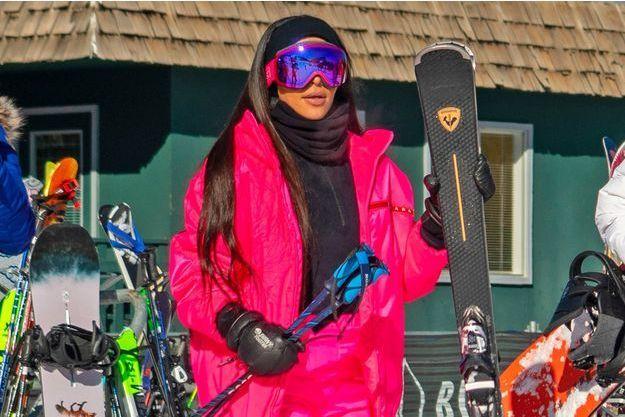 Kim Kardashian à Aspen, fin décembre 2018