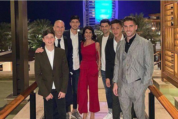 Zinédine Zidane et sa famille