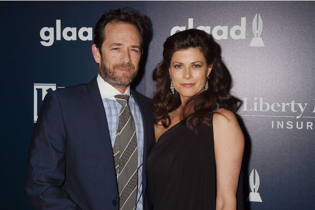 Luke Perry et Wendy Madison Bauer en 2017