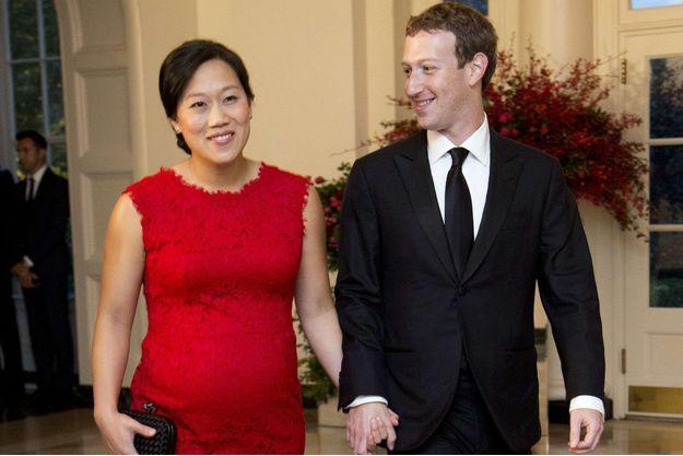 Mark Zuckerberg et son épouse Priscilla Chan en 2015.