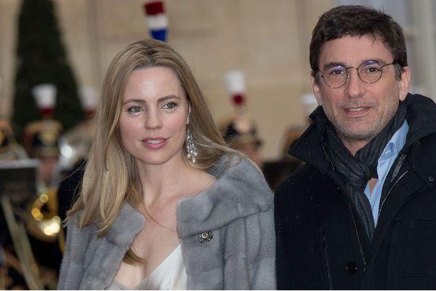 Melissa George et Jean-David Blanc à l'Elysée en avril 2016.