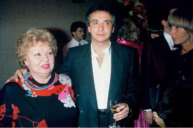 Michel Sardou et sa mère Jackie en 1998