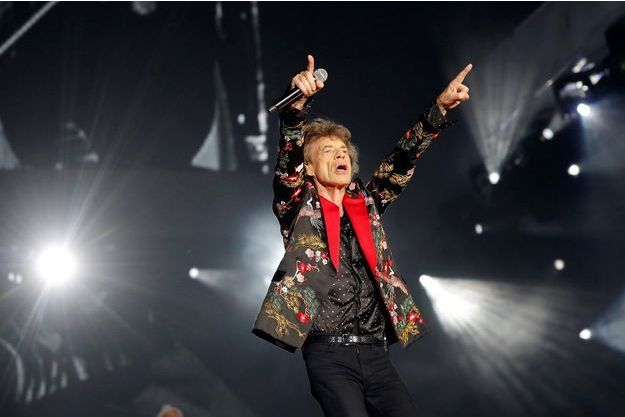 Mick Jagger en concert en 2017