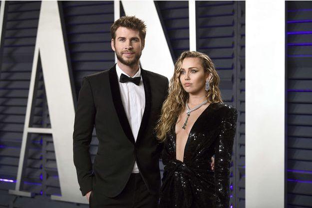 Liam Hemsworth et Miley Cyrus en janvier 2019