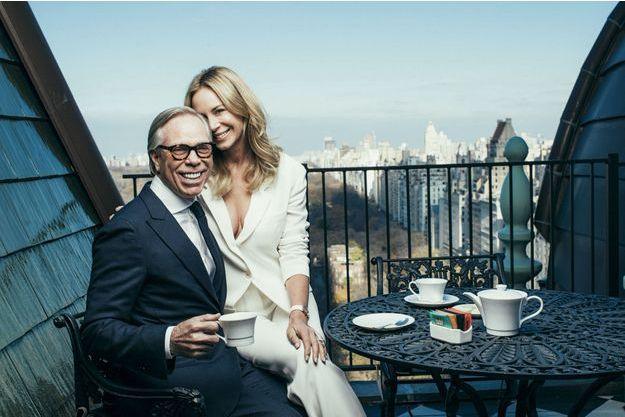 Avec Dee, sa seconde épouse, sur la terrasse de leur penthouse qui domine Central Park.